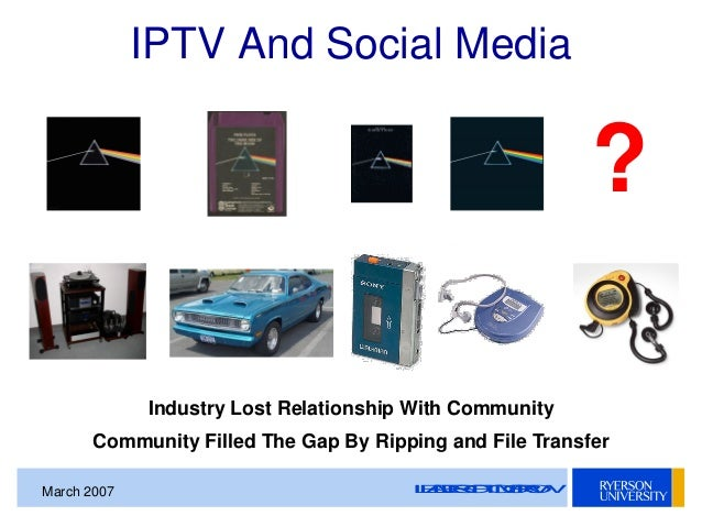 SMPTE Toronto Presentation - IPTV and Social Media On The TV