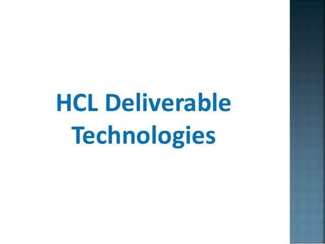 HCL Deliverable Technologies