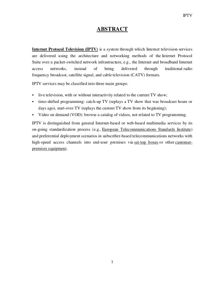 Iptv report