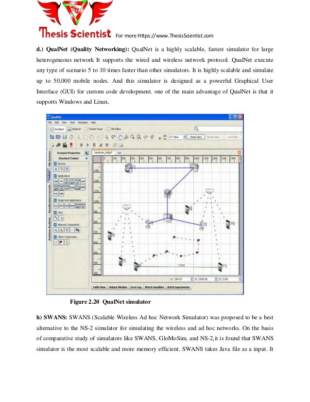 thesis on qualnet Chapter 3: quantitative master's thesis this section provides guidelines for conducting the research and writing a quantitative master's thesis including a suggested timeframe for completing a master's degree in two years, proposal writing, the structure of a typical thesis, institutional review board and protection of animal subjects.
