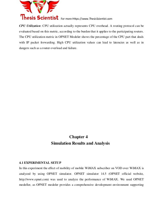 Opnet master thesis title page for an essay