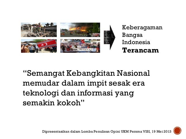 Kearifan Lokal Dalam Semangat Kebangkitan Nasional Abad XXI Slide 3