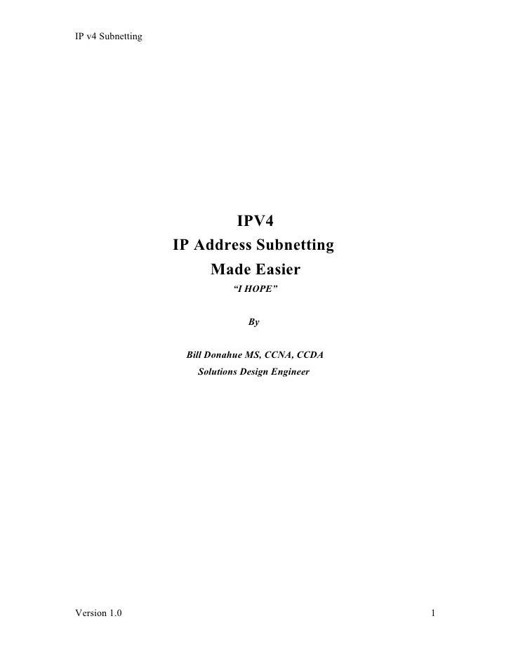 IP v4 Subnetting                                IPV4                    IP Address Subnetting                         Made...