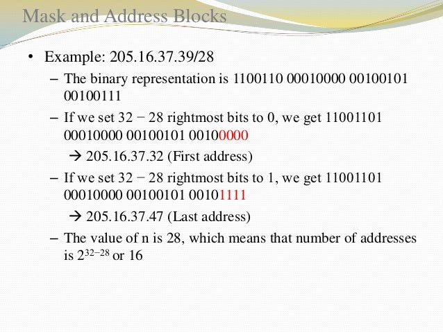 Network Addresses A very important concept in IP addressing is the network address. When an organization is given a block ...