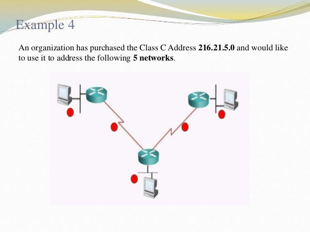 Cont..  Third: Use increment to find the network ranges.  No  Subnet  First valid address  Last valid address  Broadcast ...
