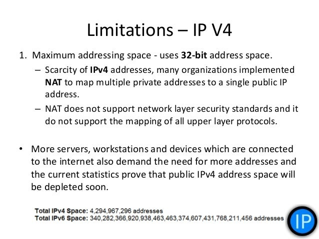 2. Security Related Issues: – IPv4 was published in 1981 and the current network security threats were not anticipated tha...