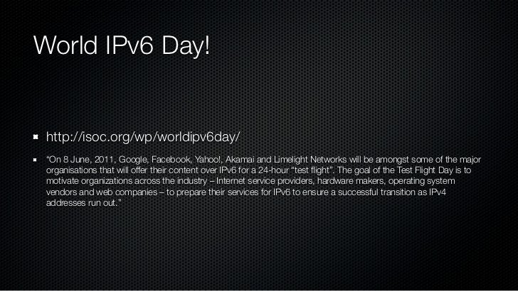 Introduction to IPV6