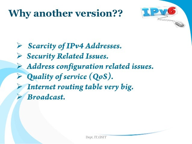 Disadvantages of ipv6