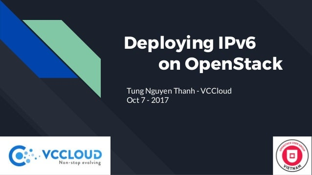 Deploying IPv6 on OpenStack