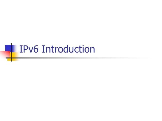 INFT3007 IPv6 Introduction