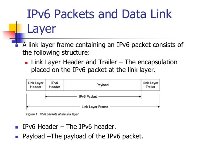 INFT3007 IPv6 Packets and Data Link Layer  A link layer frame containing an IPv6 packet consists of the following structu...