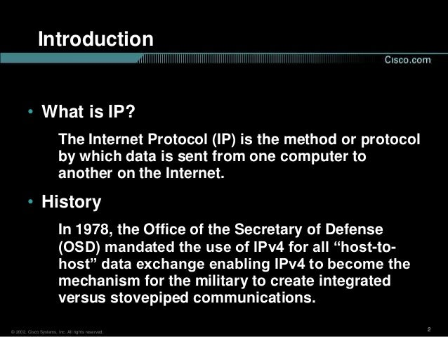 next generation internet protocol ipv6 General j article ipv6: the next generation internet 1 ipv4 and its shortcomings protocol harsha srinath is currently pursuing his ms.