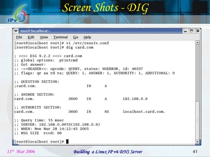 Building a Linux IPv6 DNS Server Project review PPT v3 0