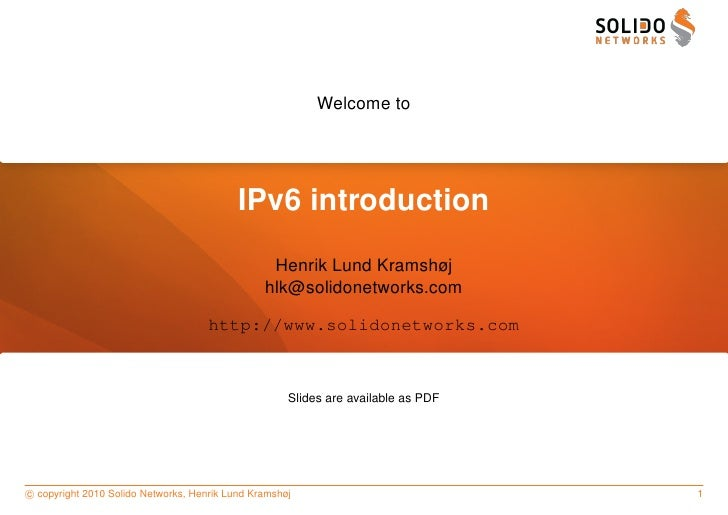 Welcome to                                                IPv6 introduction                                               ...