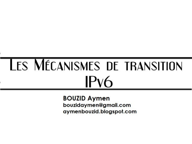 Mécanismes de transition ipv6