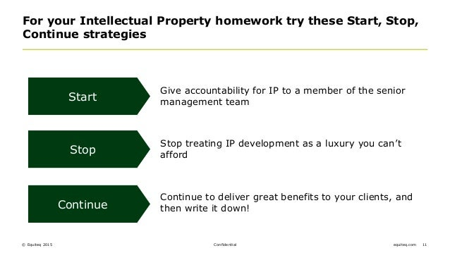 start stop continue template - why is intellectual property so important to buyers