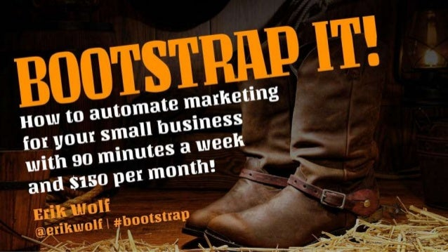 Bootstrap It! Marketing Automation Workshop at the Innovation Pavilion