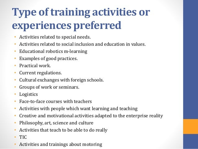 Questionnaire For Teachers  Training Needs Analysis
