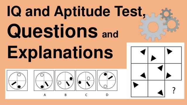 IQ and Aptitude Test Questions and Answers