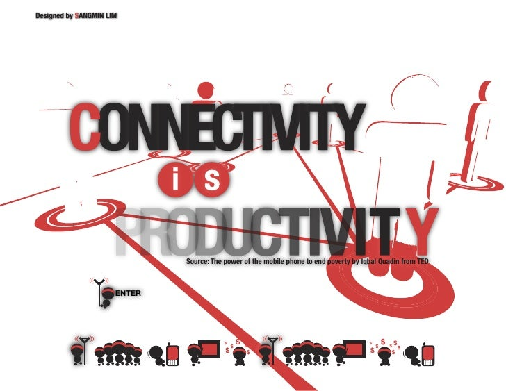 Designed by SANGMIN LIM                                   Source: The power of the mobile phone to end poverty by Iqbal Qu...