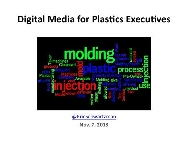 Digital  Media  for  Plas0cs  Execu0ves    @EricSchwartzman   Nov.  7,  2013