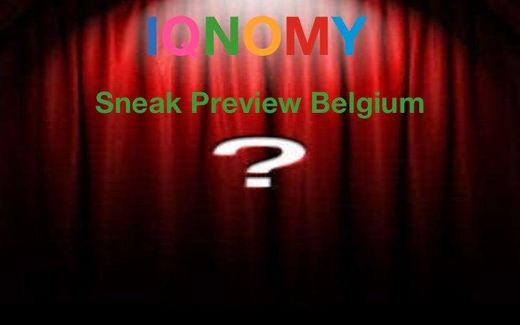 get liquid I Q N O M Y   Sneak Preview Belgium Anonymous Personalization