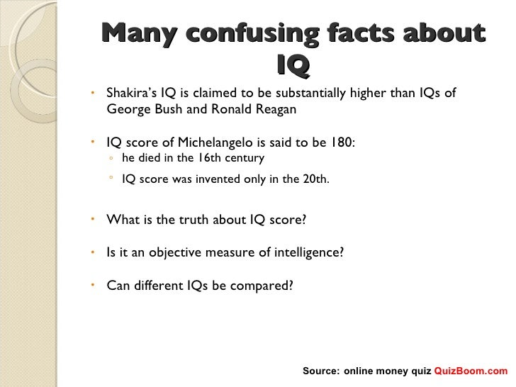The question of whether iq measures intelligence
