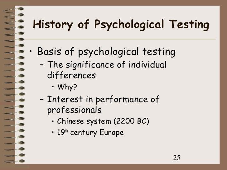 History of Psychological Assessment