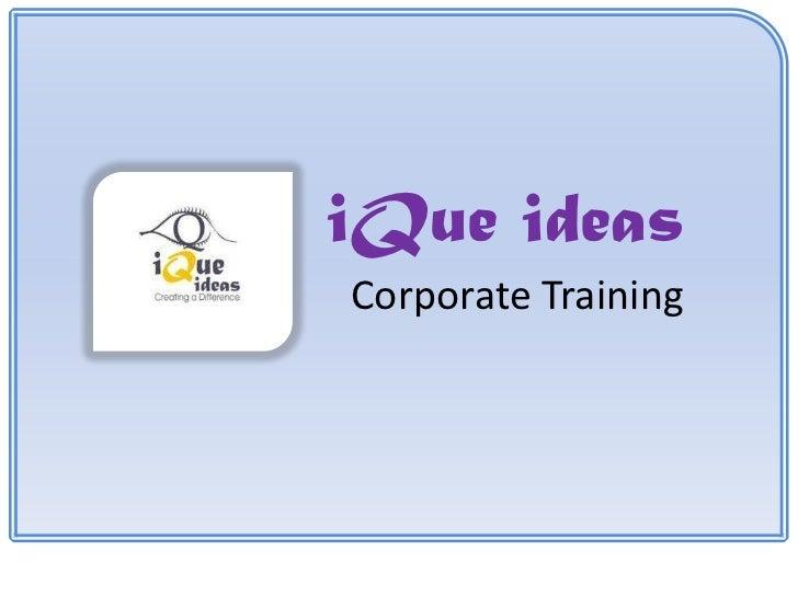 iQue ideasCorporate Training