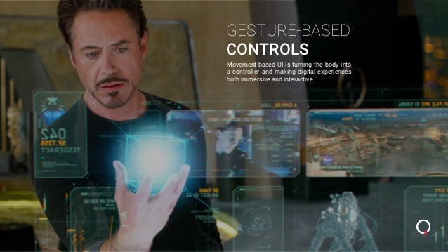 GESTURE-BASED CONTROLS Movement-based UI is turning the body into a controller and making digital experiences both immersi...