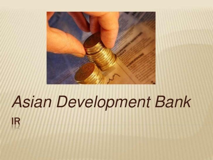 Asian Development BankIR