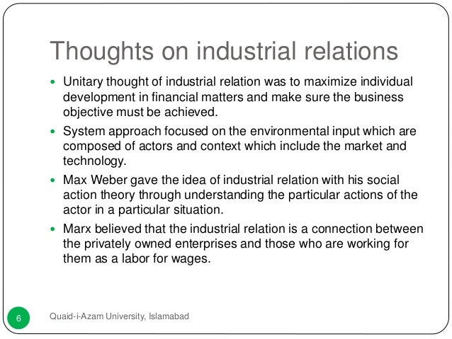 industrial relations case essay Free essays from bartleby | id44 elective hrm 6: industrial relations & collective bargaining 1 industrial relations: historical background, concept.
