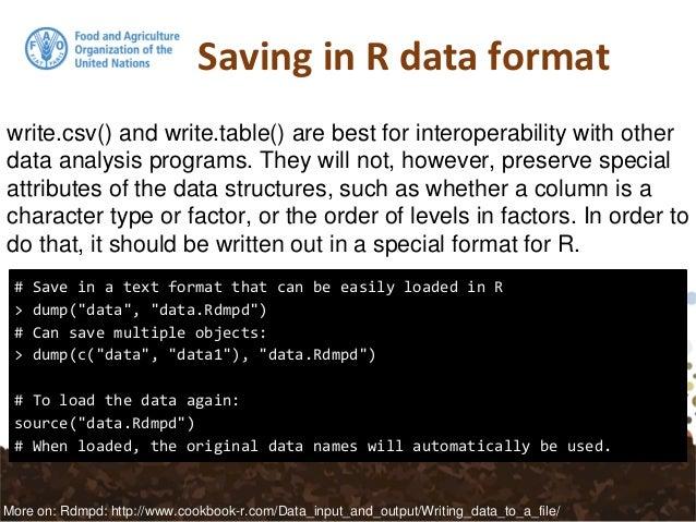R data-import, data-export