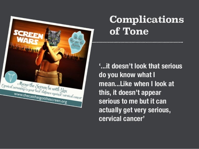 Complications  of Tone  '...it doesn't look that serious  do you know what I  mean...Like when I look at  this, it doesn't...