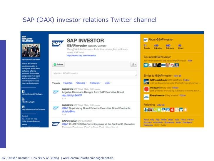 Investor Relations 2 0 International Benchmark Study 2011