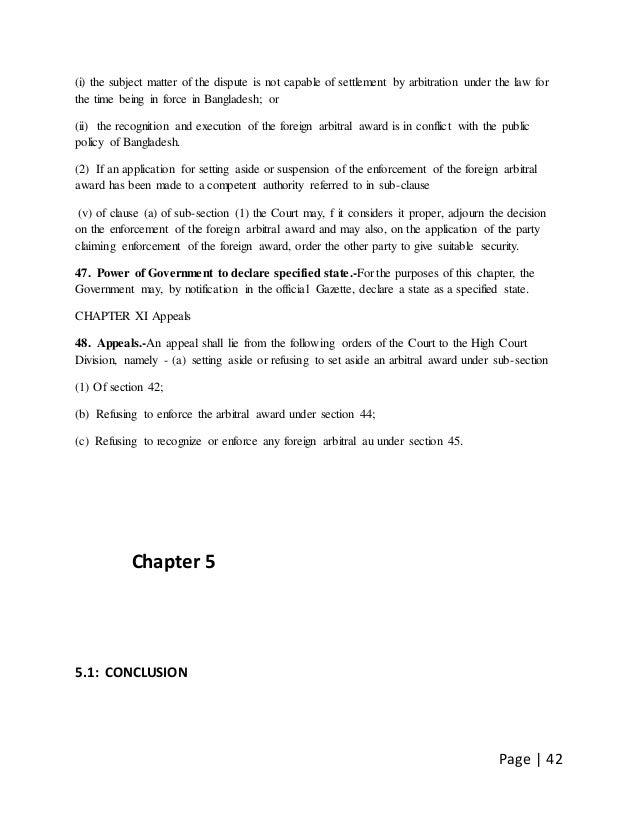 Arbitration Act in Bangladesh