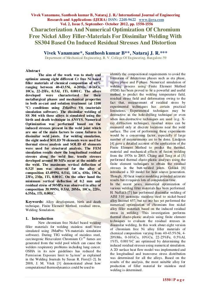 Vivek Vanamane, Santhosh kumar B, Nataraj J. R./ International Journal of Engineering           Research and Applications ...