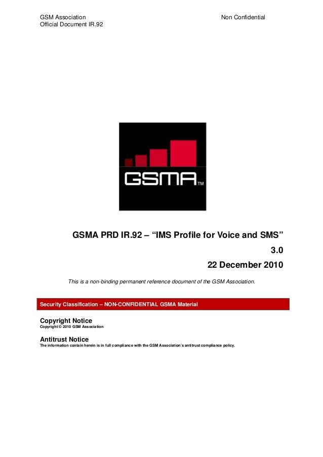 GSM Association                                                                                     Non ConfidentialOffici...