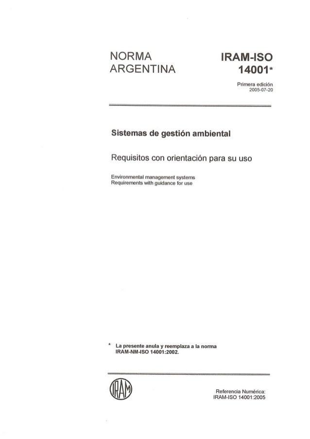 Iram iso 14001-2005