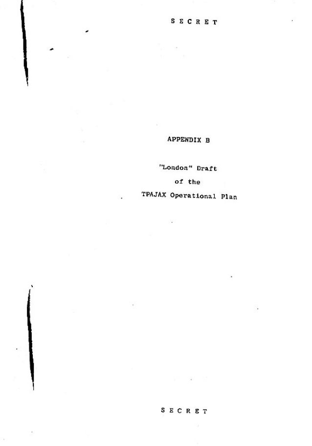 Operation Ajax Declassified PDF Appendix B