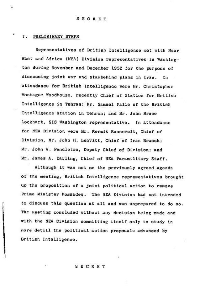 Operation Ajax Declassified PDF 1 of 9