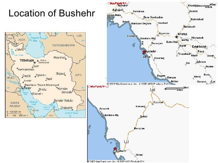 Location of Bushehr