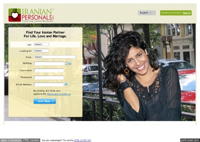 Iranian personals sign in