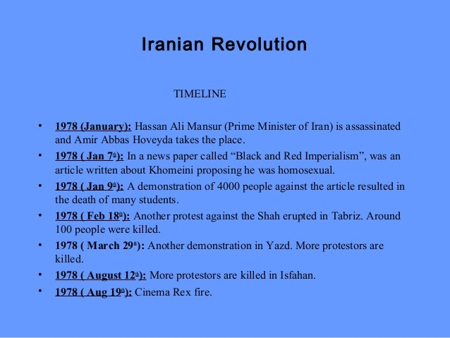 iranian revolution 1978 essay Published: fri, 28 apr 2017 the iranian revolution, also called the islamic revolution took place in 1979 it marked events involving the demise of iran's monarchy by bringing down the us-backed shah of iran, muhammad reza pahlavi.