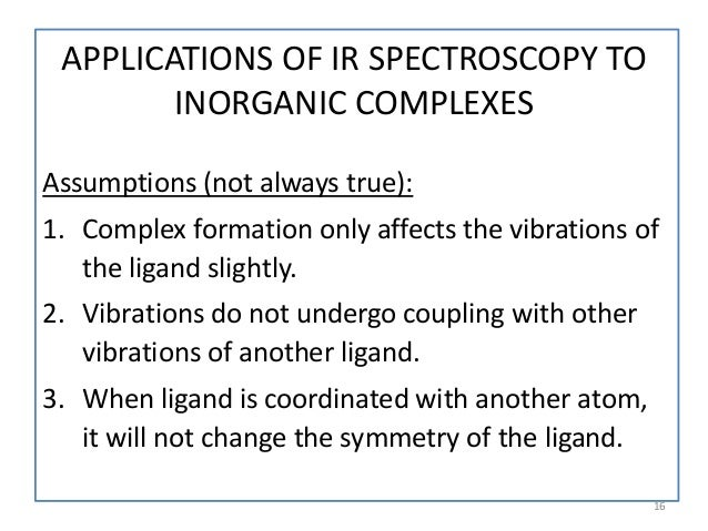 Applications of ir infrared spectroscopy in - Ir table for inorganic compounds ...