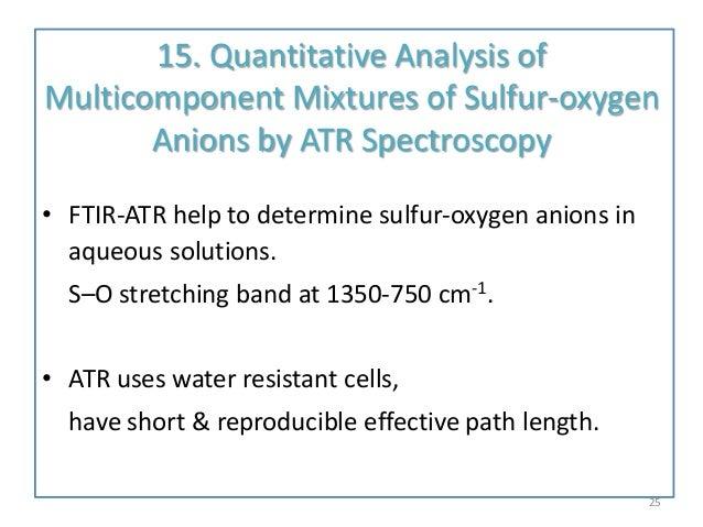 quantitative determination of sulphate Reaction can be used for the quantitative analysis of reducing sugars  (ii) sulphate, sodium potassium tartrate, sodium hydroxide, glucose, methylene blue.