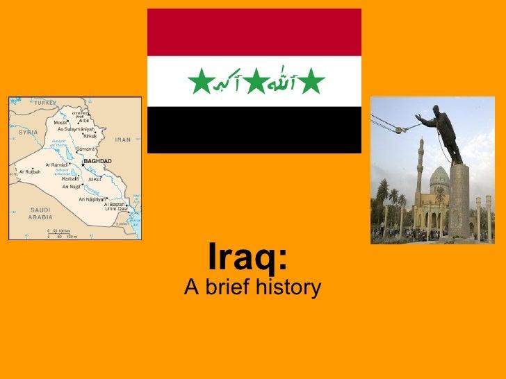 Iraq: A brief history