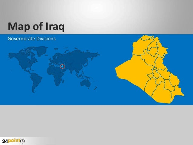 Map of Iraq Governorate Divisions