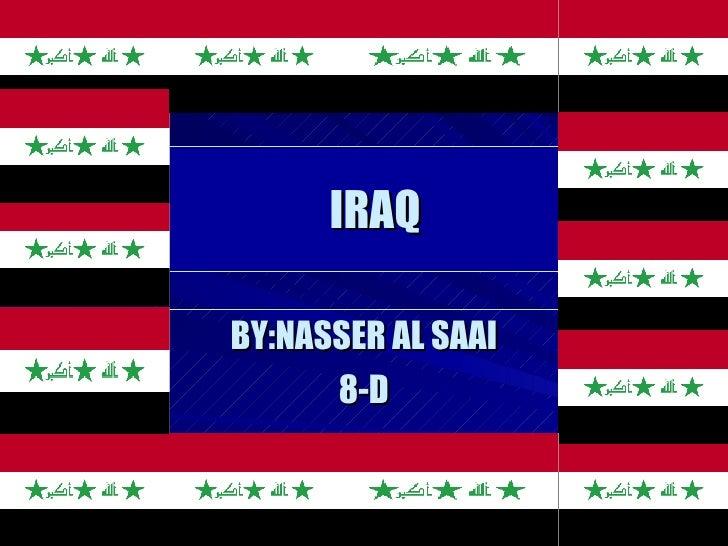IRAQ BY:NASSER AL SAAI 8-D