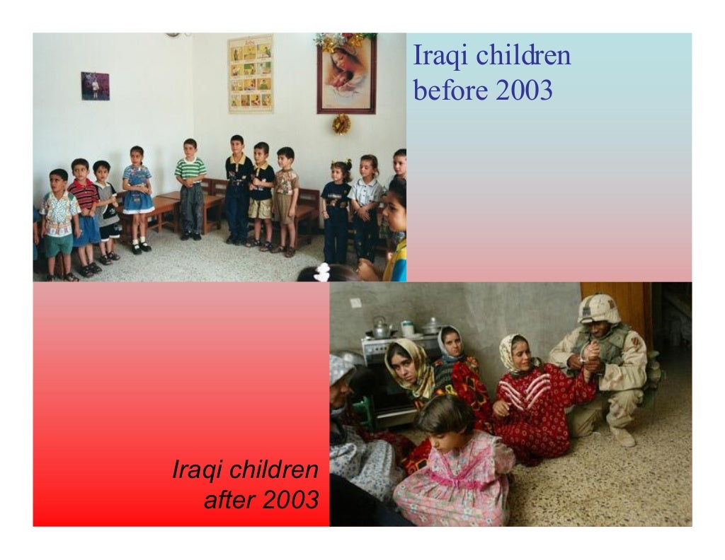 nerdlihc iqarI 3002 erofeb Iraqi children  after 2003
